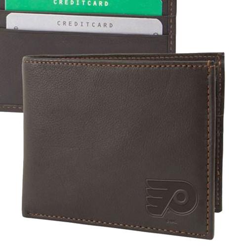 Philadelphia Flyers Billfold Genuine Leather Bifold Wallet