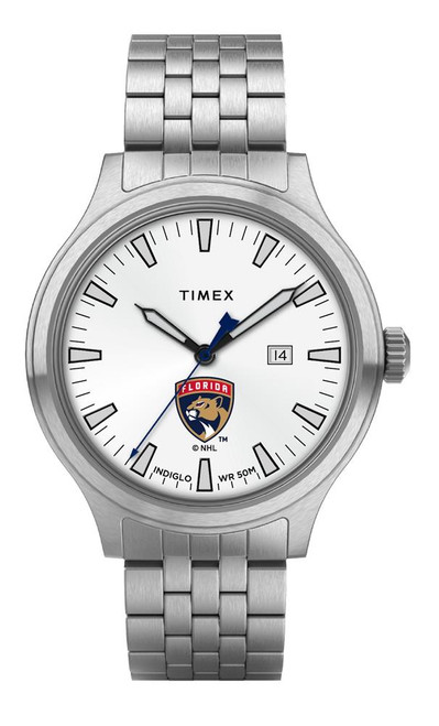 Men's Florida Panthers Watch Stainless Steel Top Brass