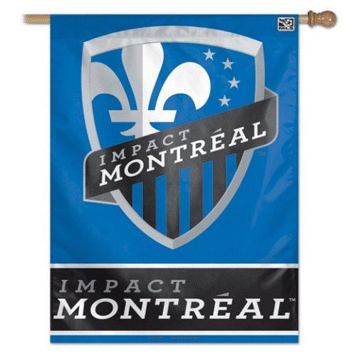 Montreal Impact Vertical Outdoor House Flag