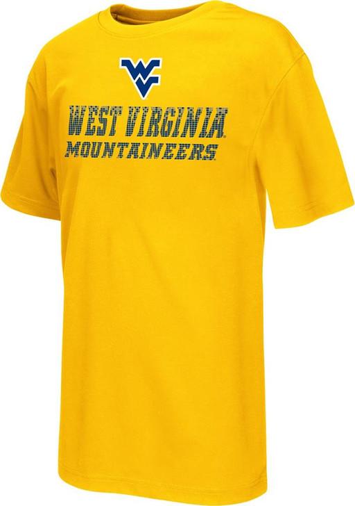 Youth Performance West Virginia Mountaineers Pixel Logo Tee