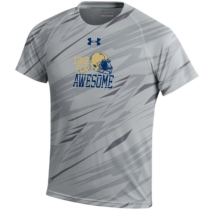 Youth Boy's Naval Academy Navy Under Armour NuTech Tee