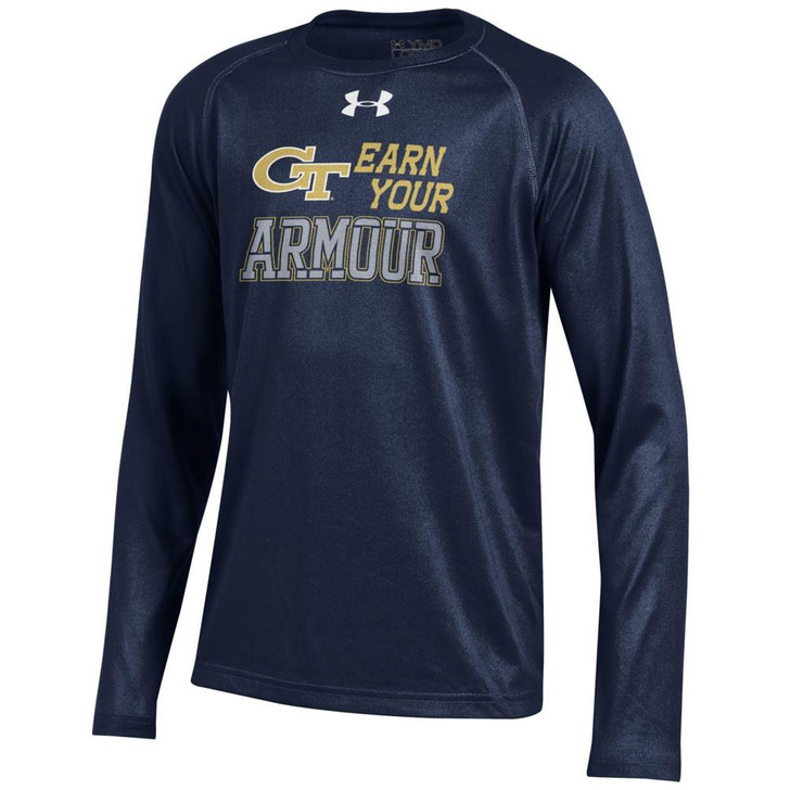 Youth Under Armour Georgia Tech GT Tech Long Sleeve Tee
