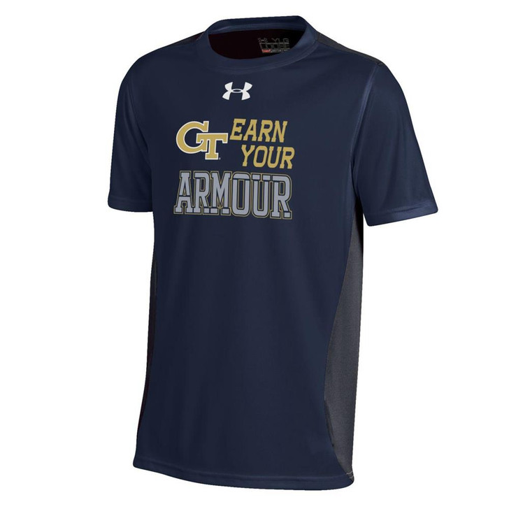 Youth Under Armour Georgia Tech GT Colorblock Tee