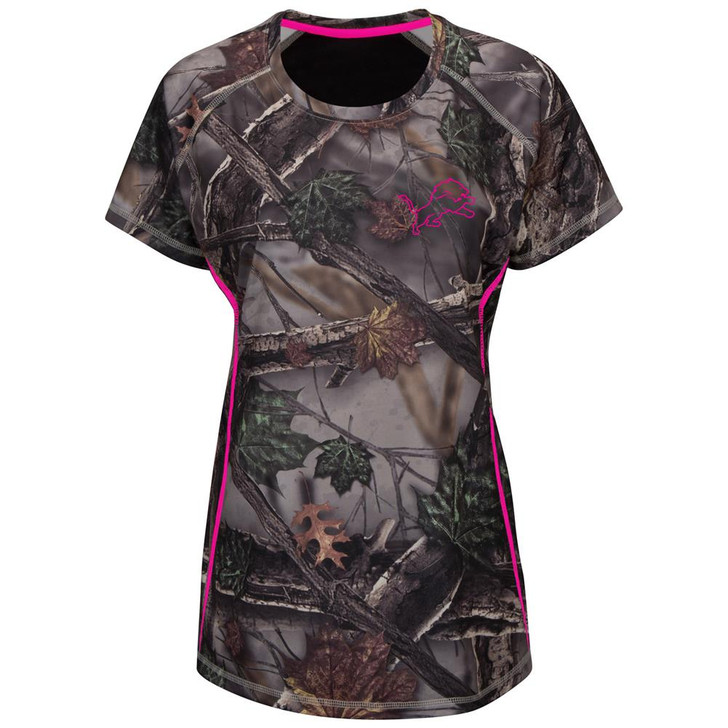 Majestic Women's The Woods Detroit Lions Camo Tee