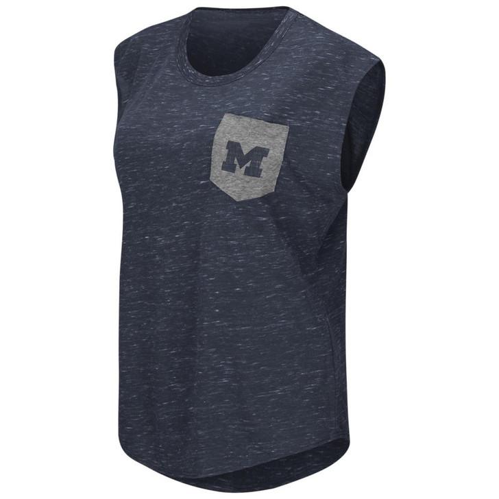 University of Michigan Wolverines Ladies Pocket Tee Heathered Vintage T-Shirt