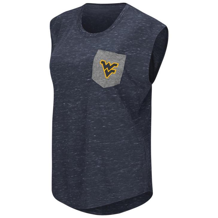 West Virginia Mountaineers Ladies Pocket Tee Heathered Vintage T-Shirt
