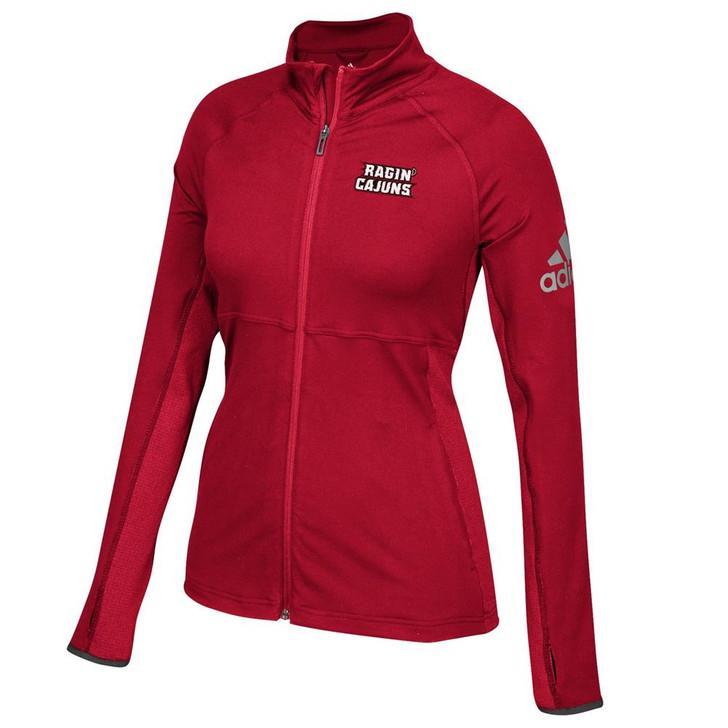 Louisiana Lafayette Adidas Ladies Full-Zip Performer Jacket