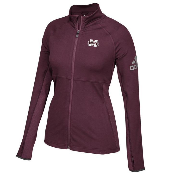 Mississippi State Bulldogs Adidas Ladies Full-Zip Performer Jacket