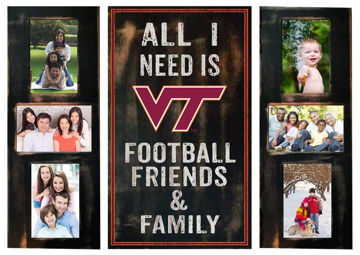 Virginia Tech VT Hokies Picture Frame Set All I Need 3pc Picture Collage
