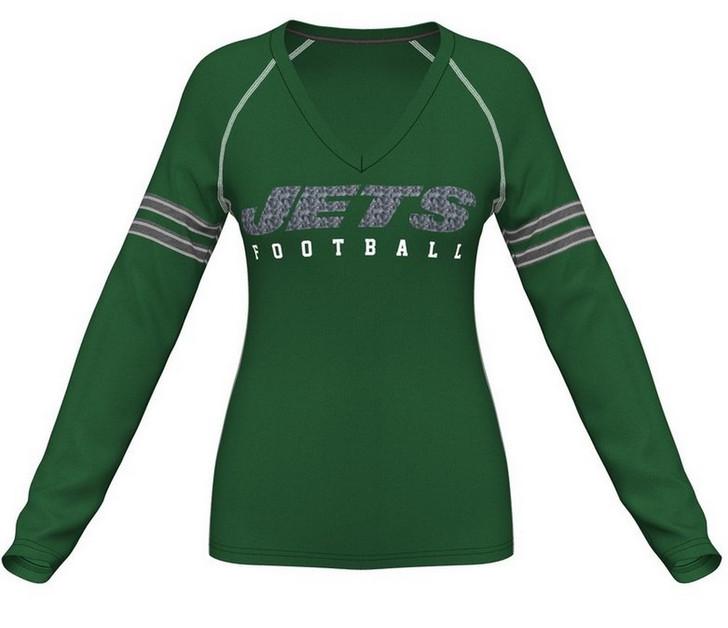 Women's Long Sleeve New York Jets NY Shirt