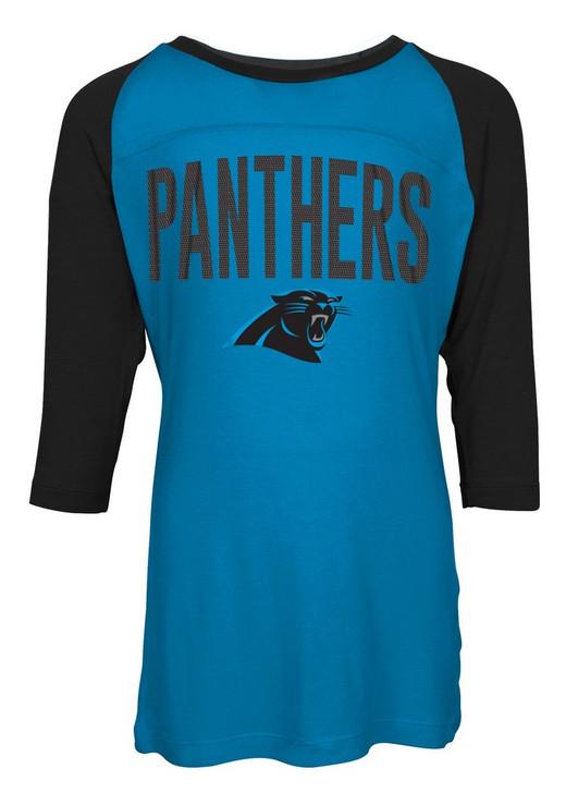 Carolina Panthers Raglan Shirt Youth Girls Graphic Tee