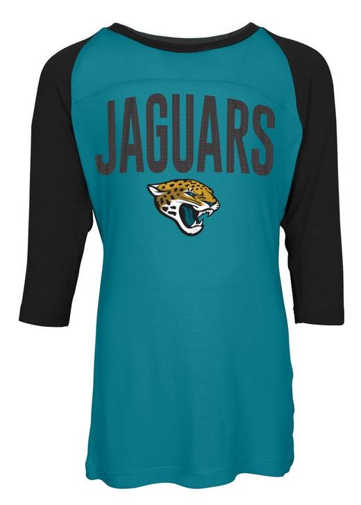 Jacksonville Jaguars Raglan Shirt Youth Girls Graphic Tee