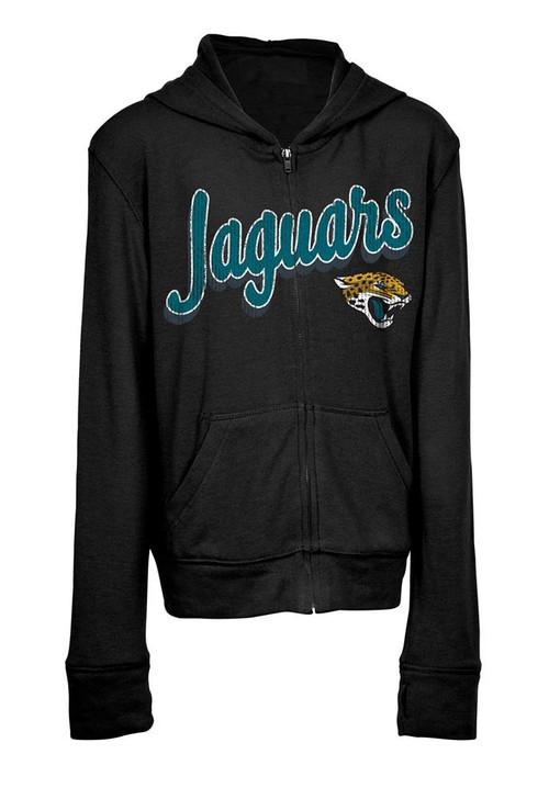 Girls Jacksonville Jaguars Hoodie Full Zip Brushed Knit Jacket