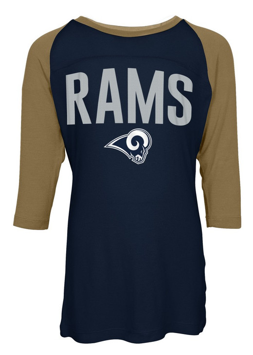 Los Angeles Rams Raglan Shirt Youth Girls Graphic Tee