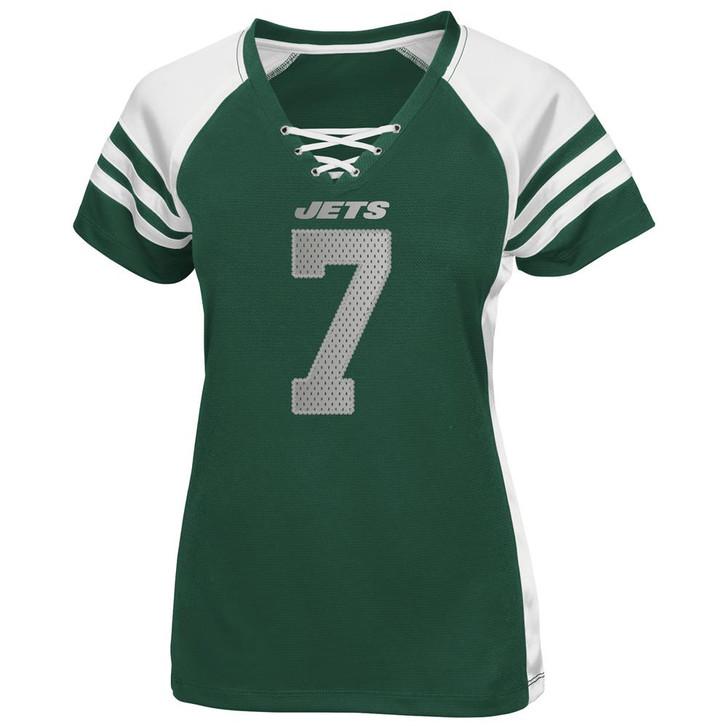 Ladies Majestic Team Color Geno Smith New York Jets NY Jersey Tee