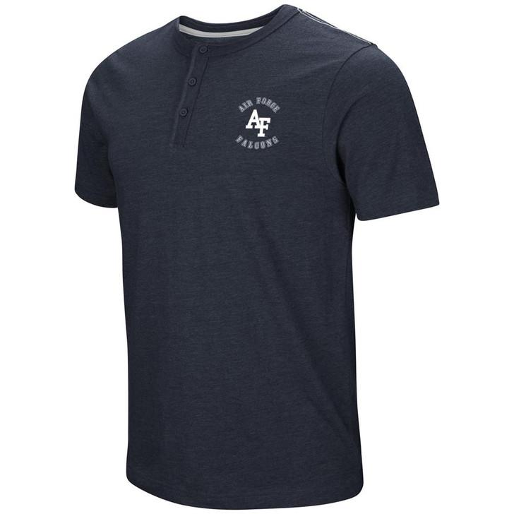 Air Force Academy Falcons Henley Shirt Men's Short Sleeve T-Shirt