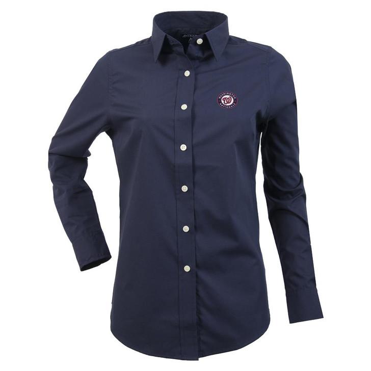 Washington Nationals Women's Long Sleeve Dress Shirt