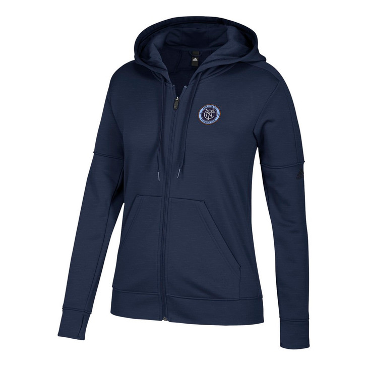 New York City FC Hoodie Women's Team Issue Zip Up Jacket