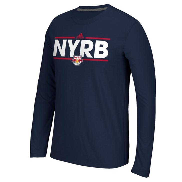 New York Red Bulls Long Sleeve Adidas Ultimate T-Shirt