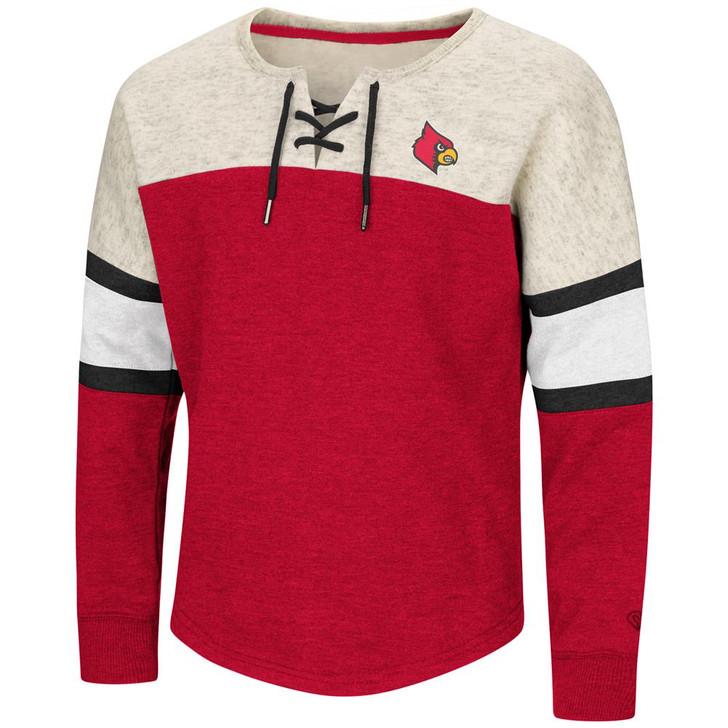 Louisville Cardinals Girls Sweatshirt Oversized Pullover