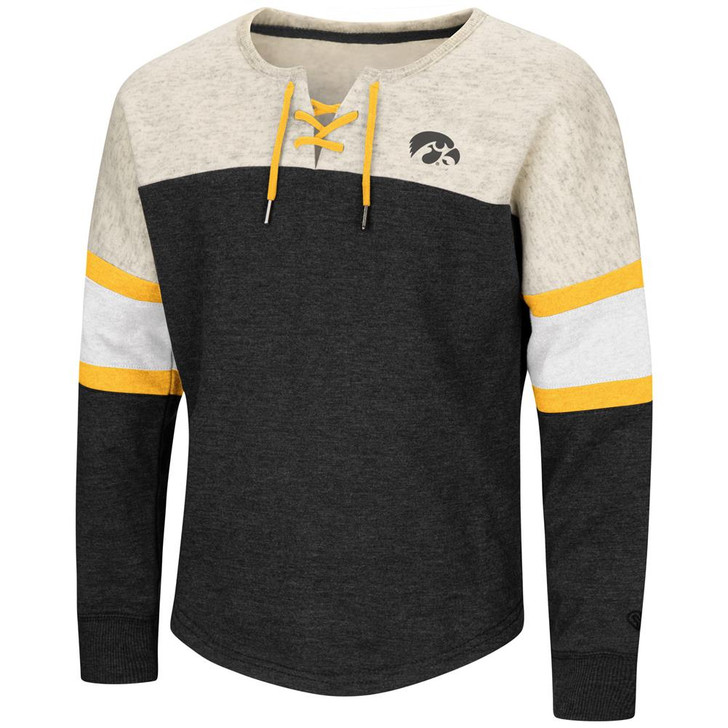 University of Iowa Hawkeyes Girls Sweatshirt Oversized Pullover