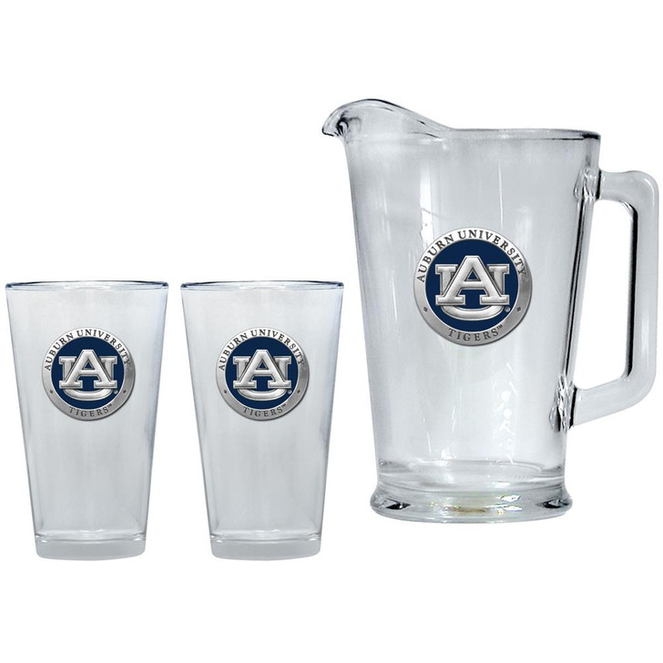Auburn University Tigers Pitcher and 2 Pint Glass Set Beer Set