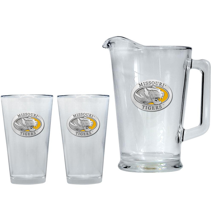 Missouri Tigers Mizzou Pitcher and 2 Pint Glass Set Beer Set