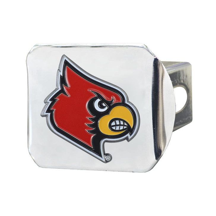 Louisville Cardinals Trailer Hitch Chrome Hitch Cover