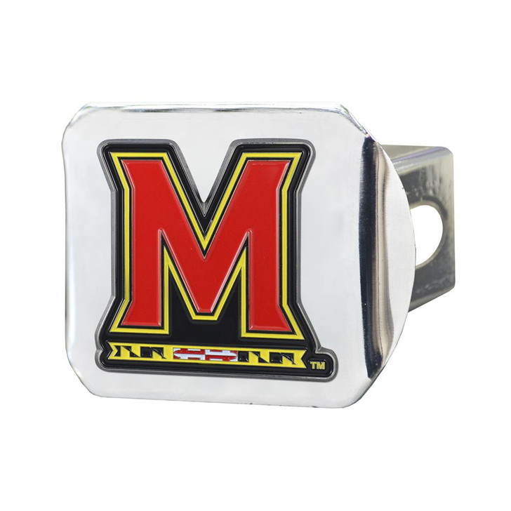 University of Maryland Terps Trailer Hitch Chrome Hitch Cover