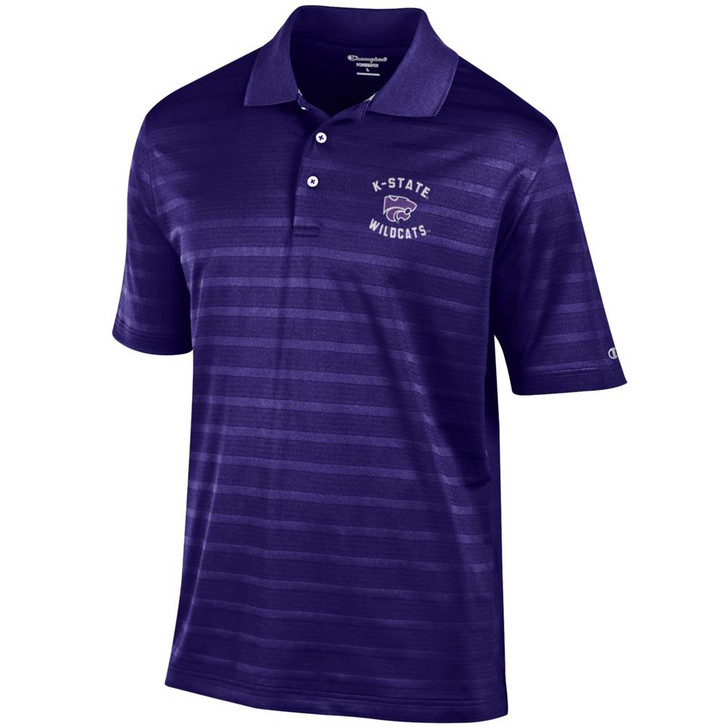 Kansas State University Men's Polo Champion Textured Solid Polo