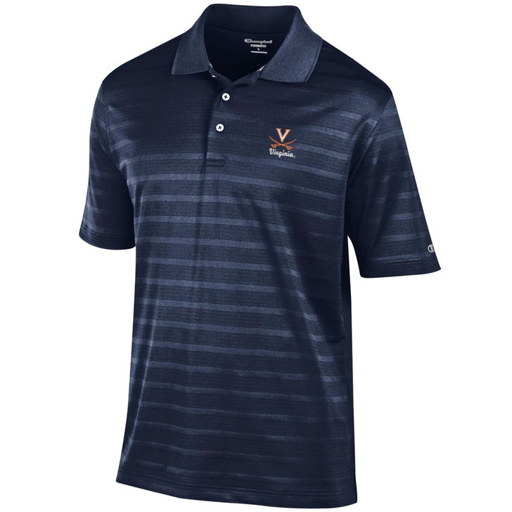 University of Virginia Cavaliers Men's Polo Champion Textured Solid Polo
