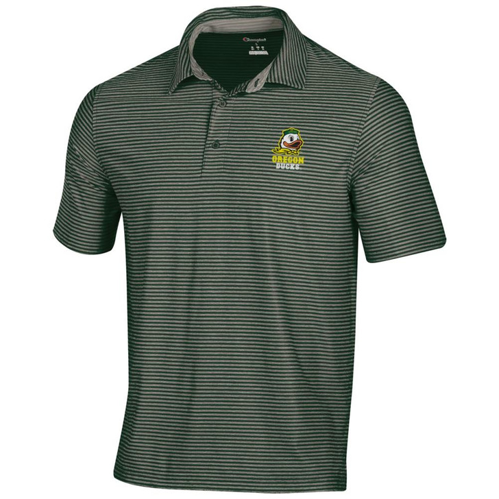 University of Oregon Ducks Men's Polo Champion Tonal Stripe Polo