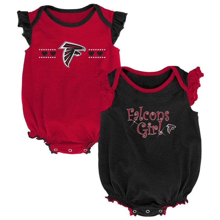 Atlanta Falcons Creeper 2 Pack Homecoming Bodysuit Set
