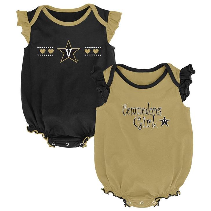 Vanderbilt University Vandy Creeper 2 Pack Homecoming Bodysuit Set