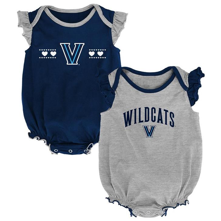 Villanova University Creeper 2 Pack Homecoming Bodysuit Set
