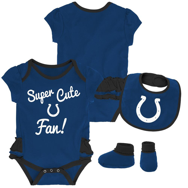 Indianapolis Colts Creeper, Bib and Bootie Set Infant Set