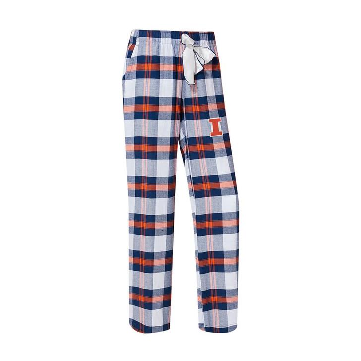 University of Illinois Women's Flannel Pajamas Plaid PJ Bottoms
