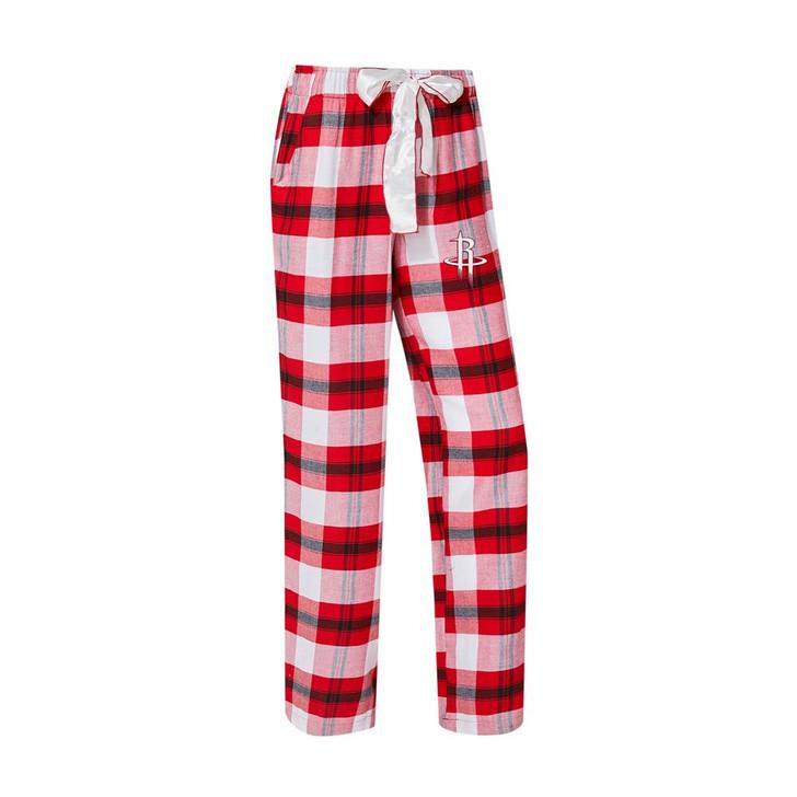 Houston Rockets Women's Flannel Pajamas Plaid PJ Bottoms