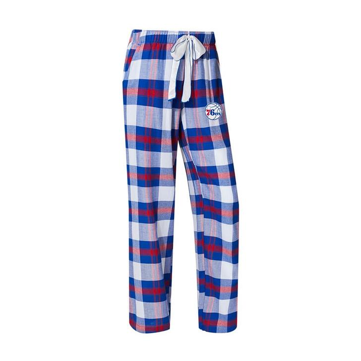 Philadelphia 76ers Women's Flannel Pajamas Plaid PJ Bottoms