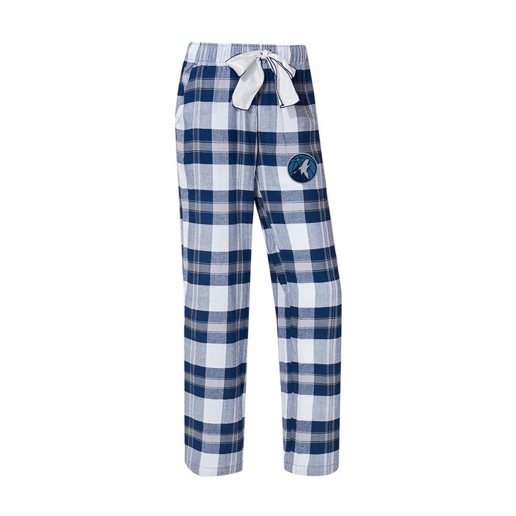 Minnesota Timberwolves Women's Flannel Pajamas Plaid PJ Bottoms