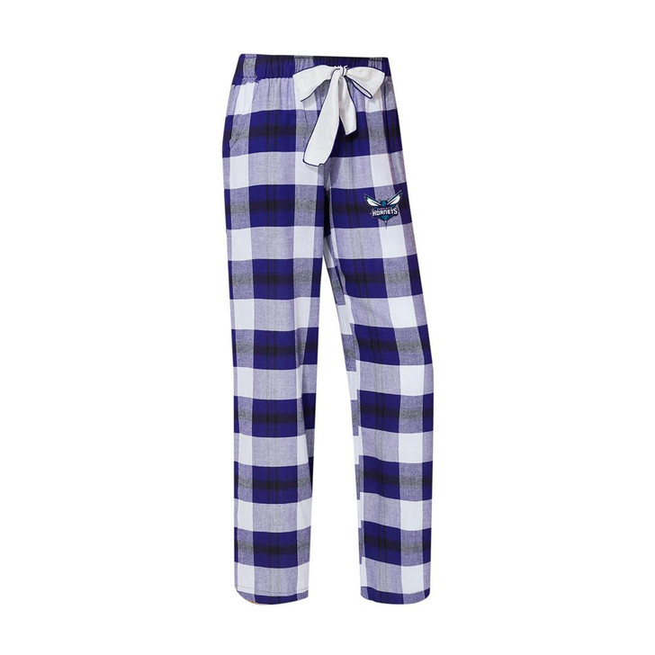 Charlotte Hornets Women's Flannel Pajamas Plaid PJ Bottoms
