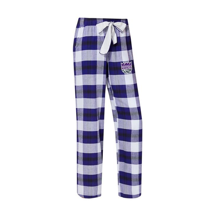 Sacramento Kings Women's Flannel Pajamas Plaid PJ Bottoms