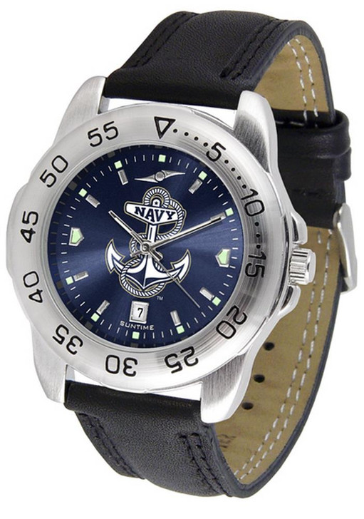 Men's Naval Academy Navy Watch Leather Sports Watch