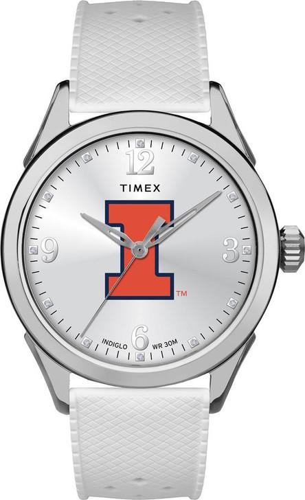 University of Illinois Ladies Silcone Athena Timex Watch