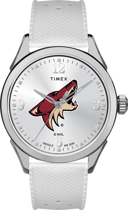 Arizona Coyotes Ladies Silcone Athena Timex Watch