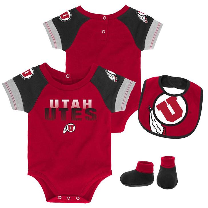 Infant University of Utah Utes Creeper Set Baby Snapsuit Set