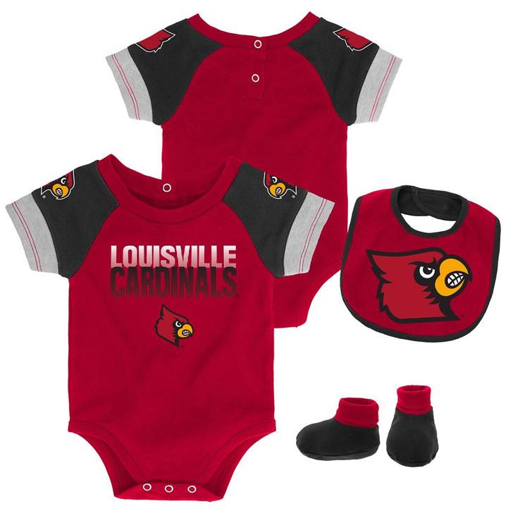 Infant Louisville Cardinals Creeper Set Baby Snapsuit Set