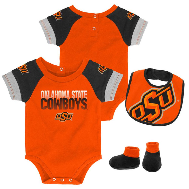 Infant Oklahoma State University Creeper Set Baby Snapsuit Set