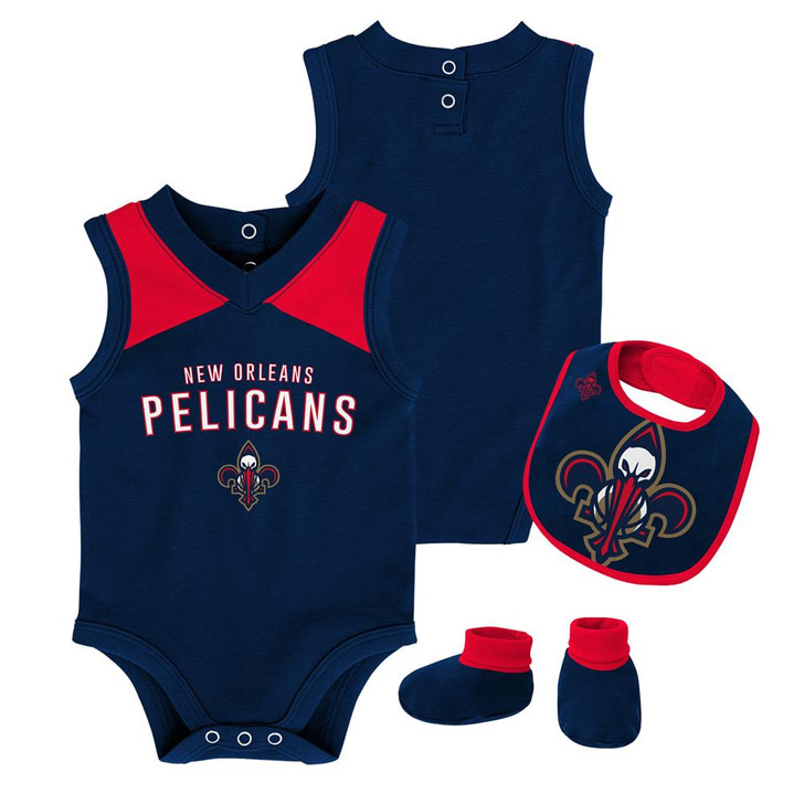 Infant New Orleans Pelicans Creeper Set Baby Snapsuit Set