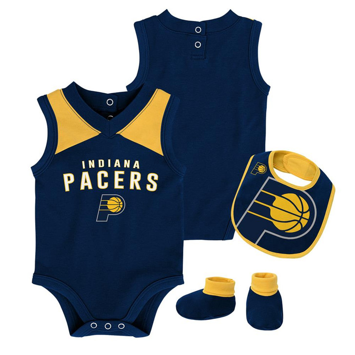 Infant Indiana Pacers Creeper Set Baby Snapsuit Set